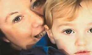 Rebecca Minnock and her three-year-old son Ethan.