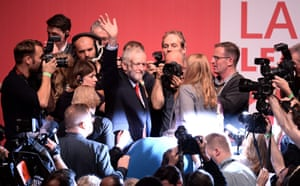 Jeremy Corbyn shortly after the result was announced.