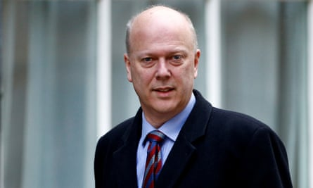 Chris Grayling outside Downing Street in 2019