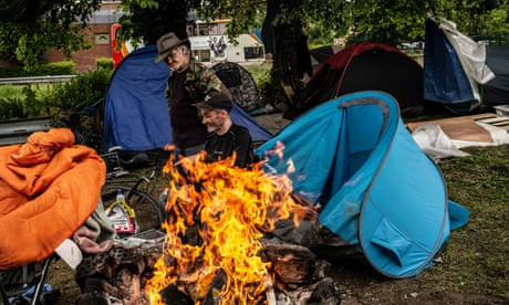 Removal of homeless camps trebles as charities warn of 'out of control' crisis