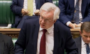 David Davis speaks in the House of Commons.