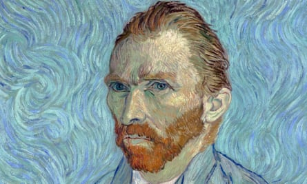 Detail from Self-Portrait by Vincent van Gogh (1889).