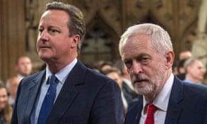 Jeremy Corbyn (right) and David Cameron