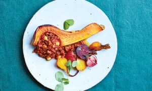 Stuffed coquina squash and sweet roasted beets
