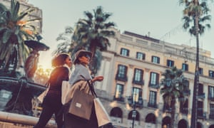 Shopping in Barcelona – where tourists benefit from a wide choice of Airbnb flats to rent, but local people face higher rents as a result.