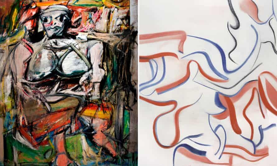 William de Kooning's Woman 1, 1950 and Untitled XXVIII, 1983