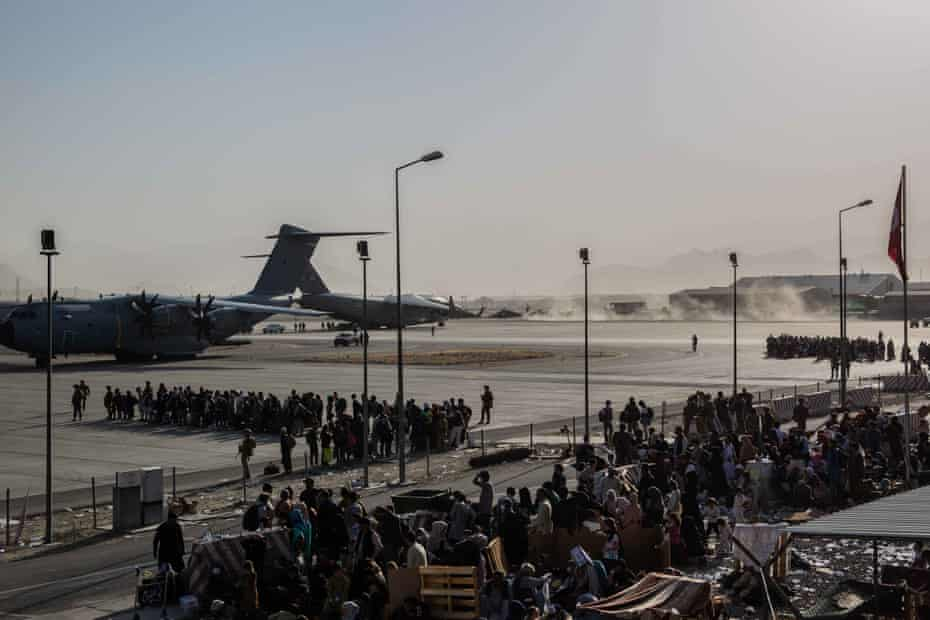 Afghans fleeing their country are being evacuated from Kabul airport after the Taliban took over the city.