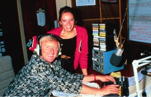 Tarrant in 1989 with Kara Noble on Capital's breakfast show, which he presented for 17 years.