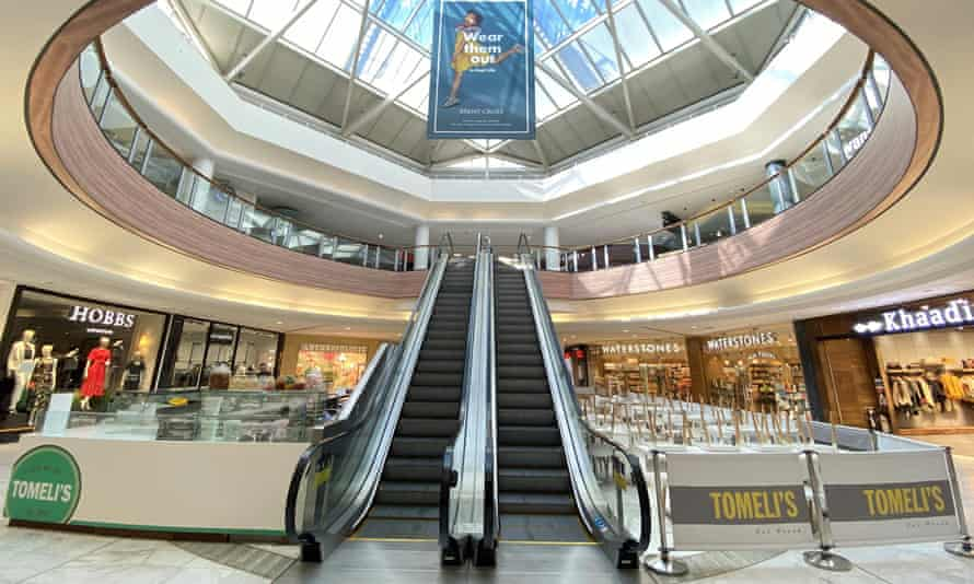 Brent Cross shopping centre in London, owned by Hammerson, looking deserted last month