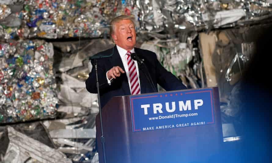 Donald Trump speaks in Monessen, Pennsylvania.