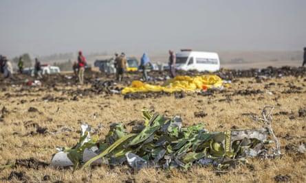 Site of Ethiopian Airlines plane crash in Bishoftu