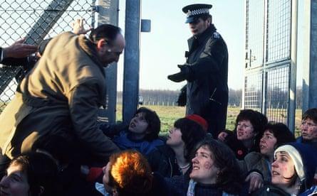 Blockade, Greenham Common, March 1982.