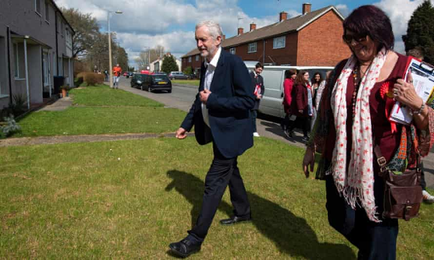 Jeremy Corbyn campaigning in Harlow.