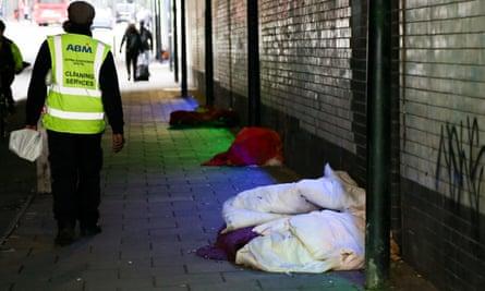 Rough sleepers, London, UK