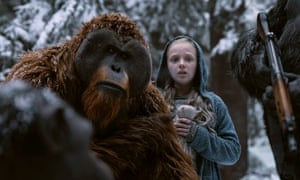 Karin Konoval, left, and Amiah Miller in War for the Planet of the Apes