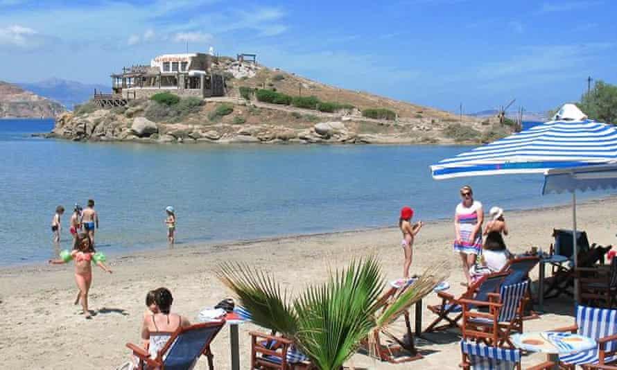 Saint George beach, Naxos, Greece