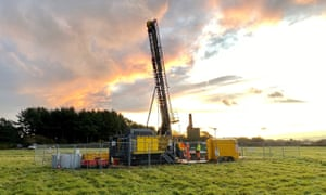 An exploratory drilling operation at the United Down site in Cornwall, which discovered the copper deposits.