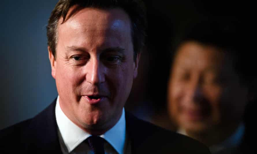 David Cameron with Xi Jinping