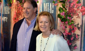 Anni-Frid Lyngstad (r) and partner Henry Smith.