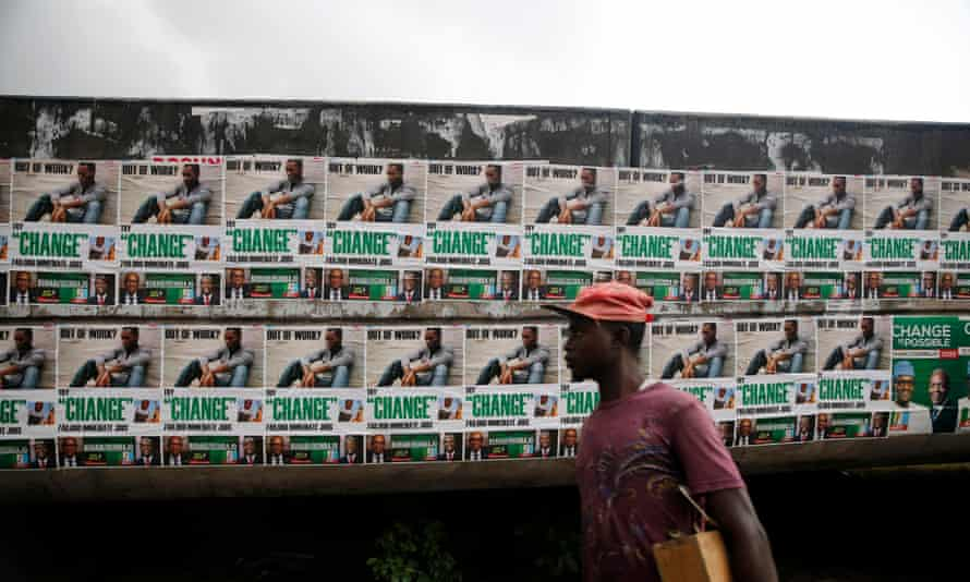 Campaign posters for Muhammadu Buhari in 2015.