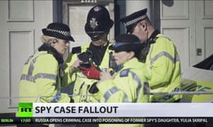 A Russia Today news bulletin about the Skripal poisoning in Salisbury.