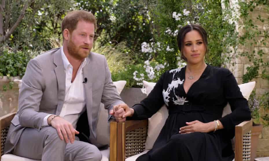 Prince Harry and Meghan on Oprah