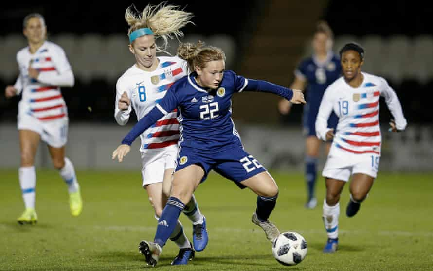 Erin Cuthbert in action against the US in November
