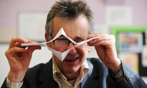 Poet John Hegley, who is running Mental Spaghetti workshops.