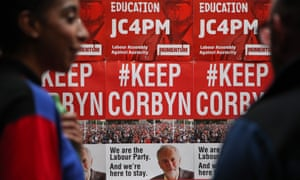 Posters showing support for Corbyn