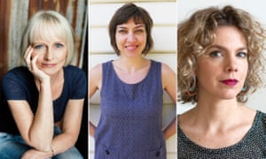 Lucy Treloar, Myfanwy Jones and Peggy Frew, three of five Australian writers shortlisted for the 2016 Miles Franklin literary award