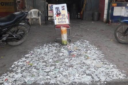 The spot where Ankit Saxena murdered.