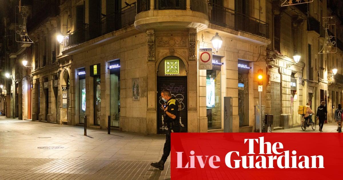 Coronavirus live news: US sees new case highs as Spain curfew begins
