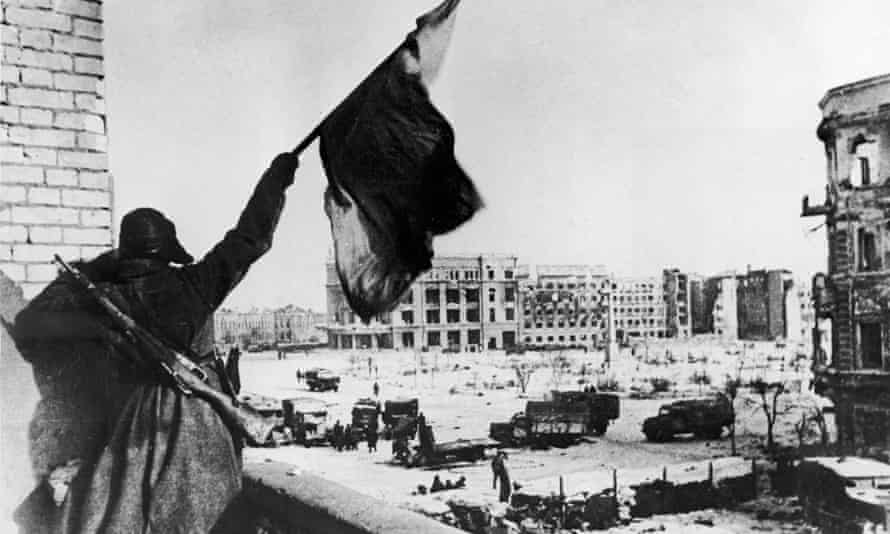 A Russian during the battle of Stalingrad in the second world war.
