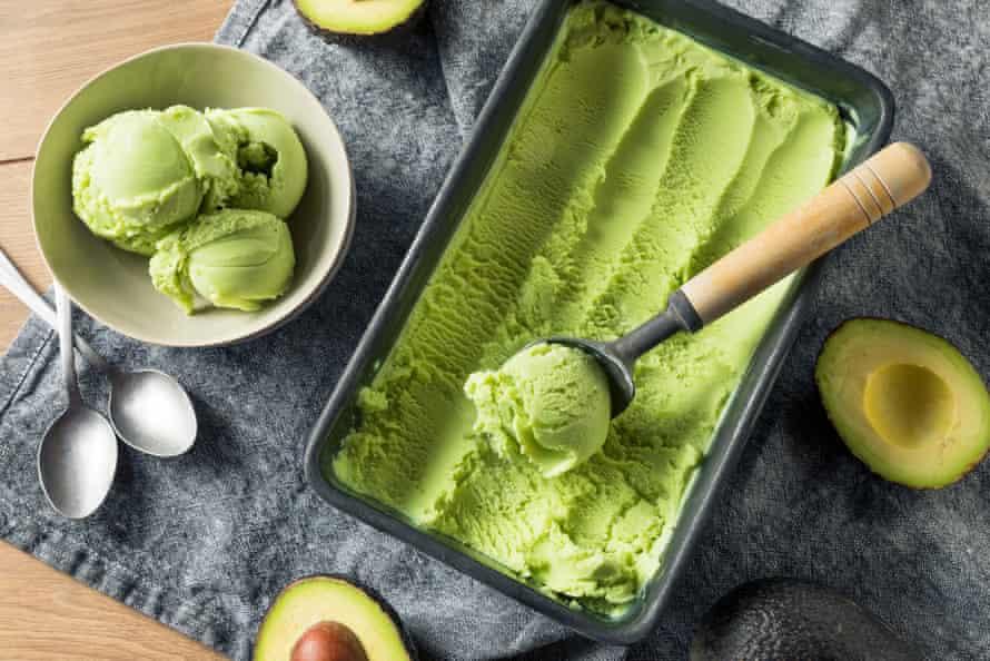 Homemade avocado ice-cream.