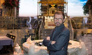 Former Abba member Björn Ulvaeus at the Stockholm branch of his themed party restaurant.