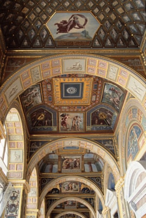 A recreation of the Raphael Loggias at the Hermitage Museum in St Petersburg.
