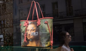How much is that Da Vinci in the window? … a Mona Lisa handbag, made by Jeff Koons for Louis Vuitton.