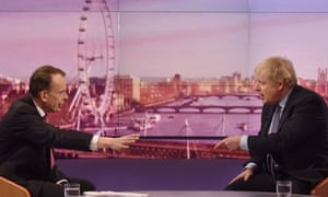 Boris Johnson is interviewed by Andrew Marr on the BBC on December 1.
