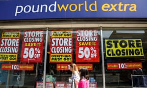 Poundworld is in administration and has announced closures of 105 of its 335 shops.