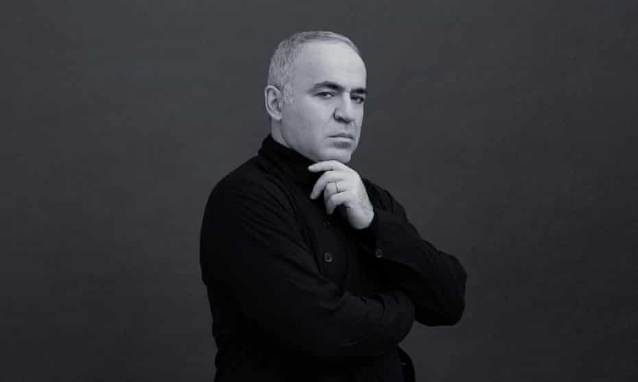 Garry Kasparov in a promotion image for his new website, Kasparovchess.com