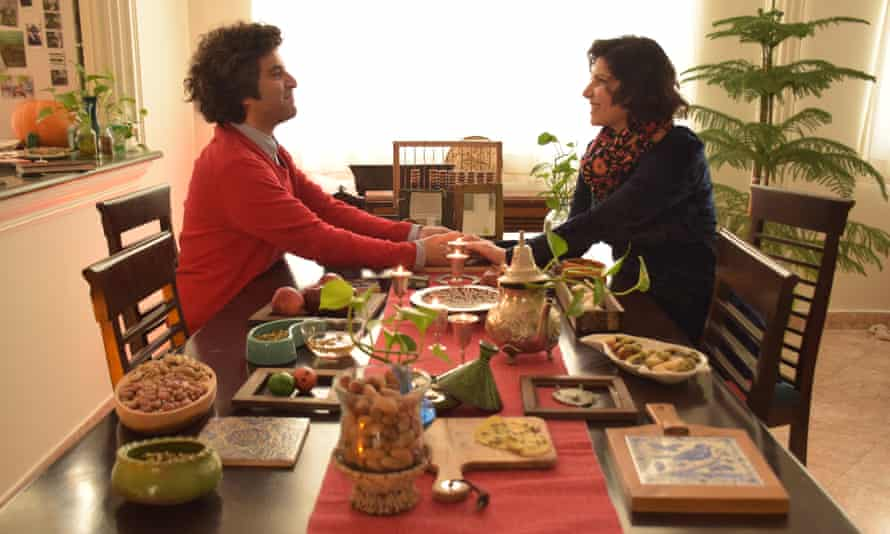 Filmmakers Sara Khaki and Mohammad Reza Eyni at home celebrating Persian new year.