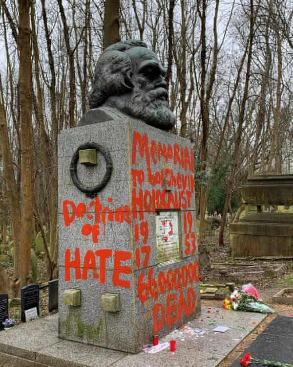In February, Marx's tomb was attacked with a hammer for a second time in two months.