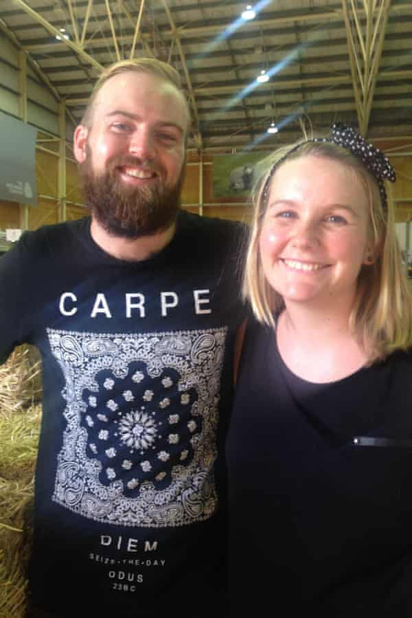 Bec Bragg and Matt Ryan at the Royal Easter Show Sydney 25 March 2015