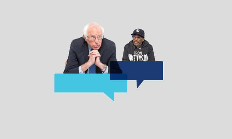 US senator Bernie Sanders and film-maker Spike Lee