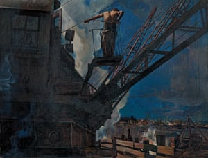 Isaak Brodsky, Shock-worker from Dneprostroi, 1932.