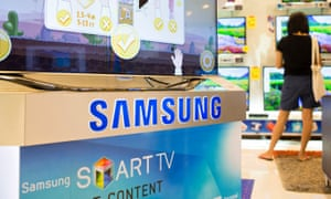 Samsung smart TV in a shop