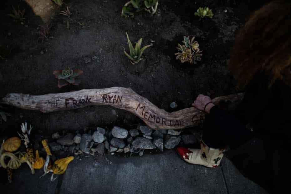 Iversen's memorial garden for Frank Ryan: 'Such a big piece of me is gone.'