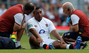 Mako Vuniopla's hamstring injury will need some 10 days of rehabilitation to heal, say England.
