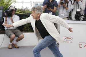 Director Roman Polanski poses for photographers at the photocall for his film Based On A True Story