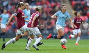 Manchester City's Georgia Stanway on the charge against West Ham in the Women's FA Cup final at Wembley.
